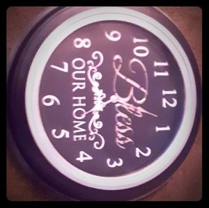 Bless this house wall hanging clock battery oppr